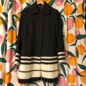 Banana Republic stripe colorblock winter coat S